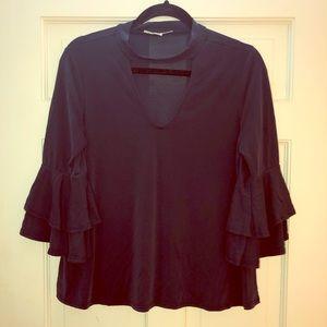 Women's navy blue blouse- NWOT